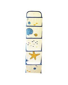 Canvas Wall Hanging Shells and Stars Foldable Organiser (Multicolour)