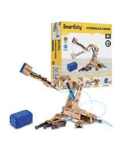 Smartivity Hydraulic Crane STEM STEAM Educational DIY Building Construction Activity Toy Game Kit, Easy Instructions, Experiment, Play, Learn Science Engineering Project 8+