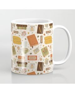 Printed Coffee Mug, Cozy Reading Time Coffee Mug