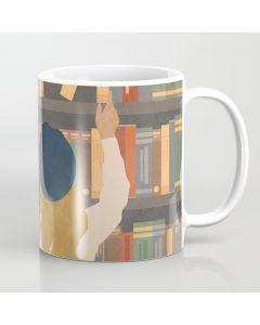 Printed Coffee Mug, Library Love Coffee Mug