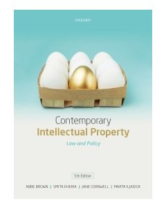 Contemporary Intellectual Property: Law and Policy 5th Edition