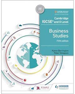 Cambridge IGCSE and O Lvl Business Studies 5th Ed