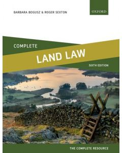 Complete Land Law: Text, Cases, and Materials CIVL 3301