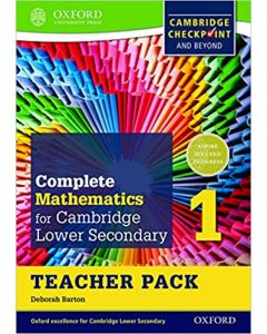 Complete Mathematics for Cambridge Lower Secondary Teacher Pack 1 : For Cambridge Checkpoint and Beyond