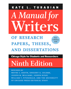 Manual for Writers of Research Papers, Theses, and Dissertations INTR 4201