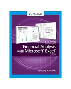 Financial Analysis with Microsoft® Excel® BFIN 3301