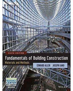 Fundamentals of Building Construction ARCH 2309
