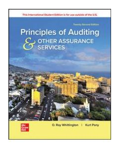 Principles of Auditing & Other Assurance Services ACCT 4301