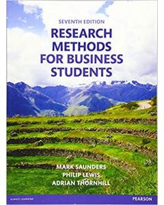 Research Methods For Business Students BBUS 3302