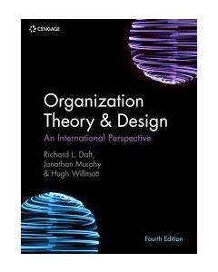 Organization Theory and Design HCMG 3303