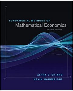 eBook Fundamental Methods of Mathematical Economics