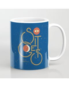 "Printed Coffee Mug, ""So It Goes"" — Kurt Vonnegut Coffee Mug"