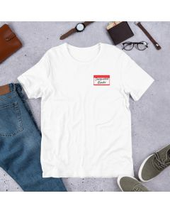 Printed Premium  T-shirt with Crew Neck and Short Sleeves, Designated Reader White