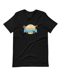 Printed Premium T-shirt with Crew Neck and Short Sleeves, Books Trip Black
