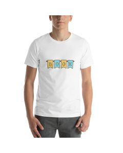 Book Banner, Printed Premium T-shirt with Crew Neck and Short Sleeves
