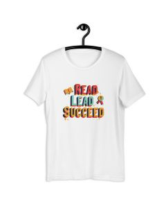 Read Lead Succeed, Printed Premium T-shirt with Crew Neck and Short Sleeves