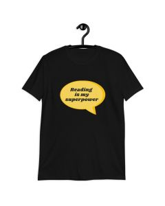 Reading Is My Superpower, Printed Premium T-shirt with Crew Neck and Short Sleeves