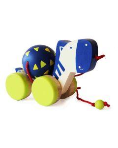 Shumee Wooden Toys-Zeebo The Zebra Pull Along Toy (1 Year+)- Encourage Walking