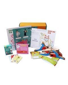 Shumee Box of Learning for Preschoolers (Activity Box for 4 Years Old+) - Wooden Balance Toy Set, Cards Game and 2 Activity Sheets,Pack of 1 set,Multi color
