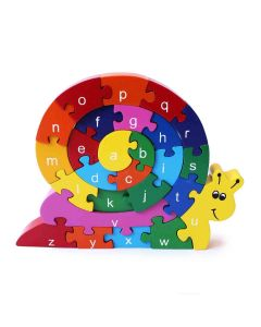 Shumee Wooden Rainbow 3D Snazzle (3 Years+) (26 Pieces) - Learn Alphabets, Numbers and Colors