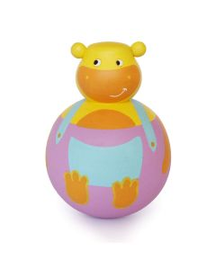 Shumee Wooden Push and Shake Wobbling Toy for Babies, Toddlers(Age 2 Years+) Colorful Hippo Roly Poly