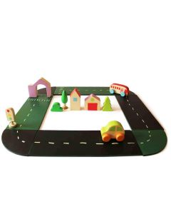 Shumee Build A City Wooden Set (Age 2+)- Develop Imagination & Creative Thinking- Multi Color