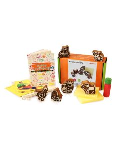 Shumee Wooden Stamps (3 Years+) - Educational Toys (Forest Mommy and Me Animal Stamps)