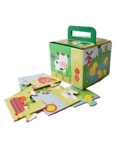 Shumee Jigsaw Puzzle- 4 Pieces & 2 Pieces- Set of 6 (3+ Years) - Educational Puzzle (Farm Puzzle) | Learn Number Counting