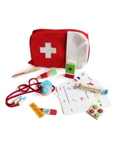 Shumee Wooden Handy Doctor Medical Set for Kids (Age 3+) - '11' Pieces Pretend and Play Medical Checkup Toy