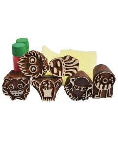 Shumee Wooden Stamps (3 Years+) - Educational Toys (Monster Stamps)