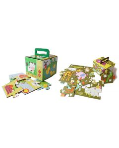 Shumee Farm Puzzle and Animal Alpha Puzzle Combo- Educational Puzzles for Kids (Age 3 Years +)