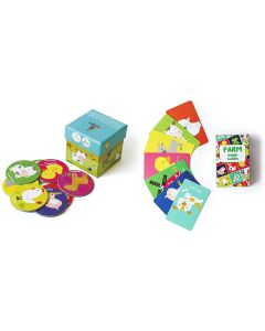 Shumee Farm Memory and Farm Snap Card Combo- Fun Card Game for Toddlers (Age 3 Year+)