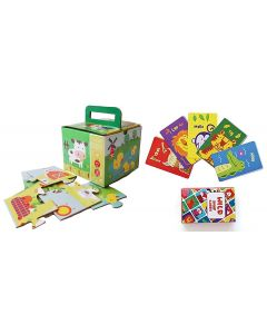 Shumee Farm Puzzle and Forest Animal Snap Cards Combo- Educational Games (Age 3 Years +)
