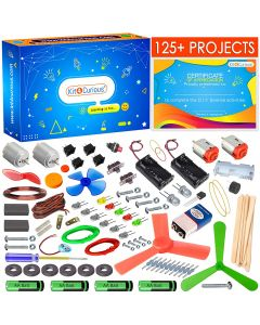 125 projects diy activity science electronics starter mega kit with user guide- Multi color