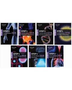 USMLE Step 1 Lecture Notes 2018: 7-Book Set (Kaplan Test Prep)