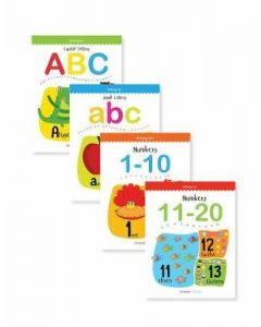Writing Fun A Set Of 4 Books : Write And Practice Capital Letters, Small Letters and Numbers 1 to 2