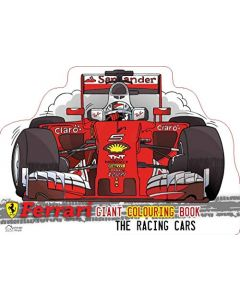Ferrari The Racing Cars: Giant Colouring Book In The Shape Of A Ferrari Car