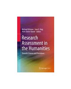 Research Assessment in the Humanities ebook